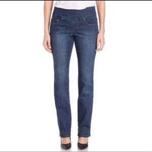 JAG Straight Leg Elastic Pull On Jeans 10 Short